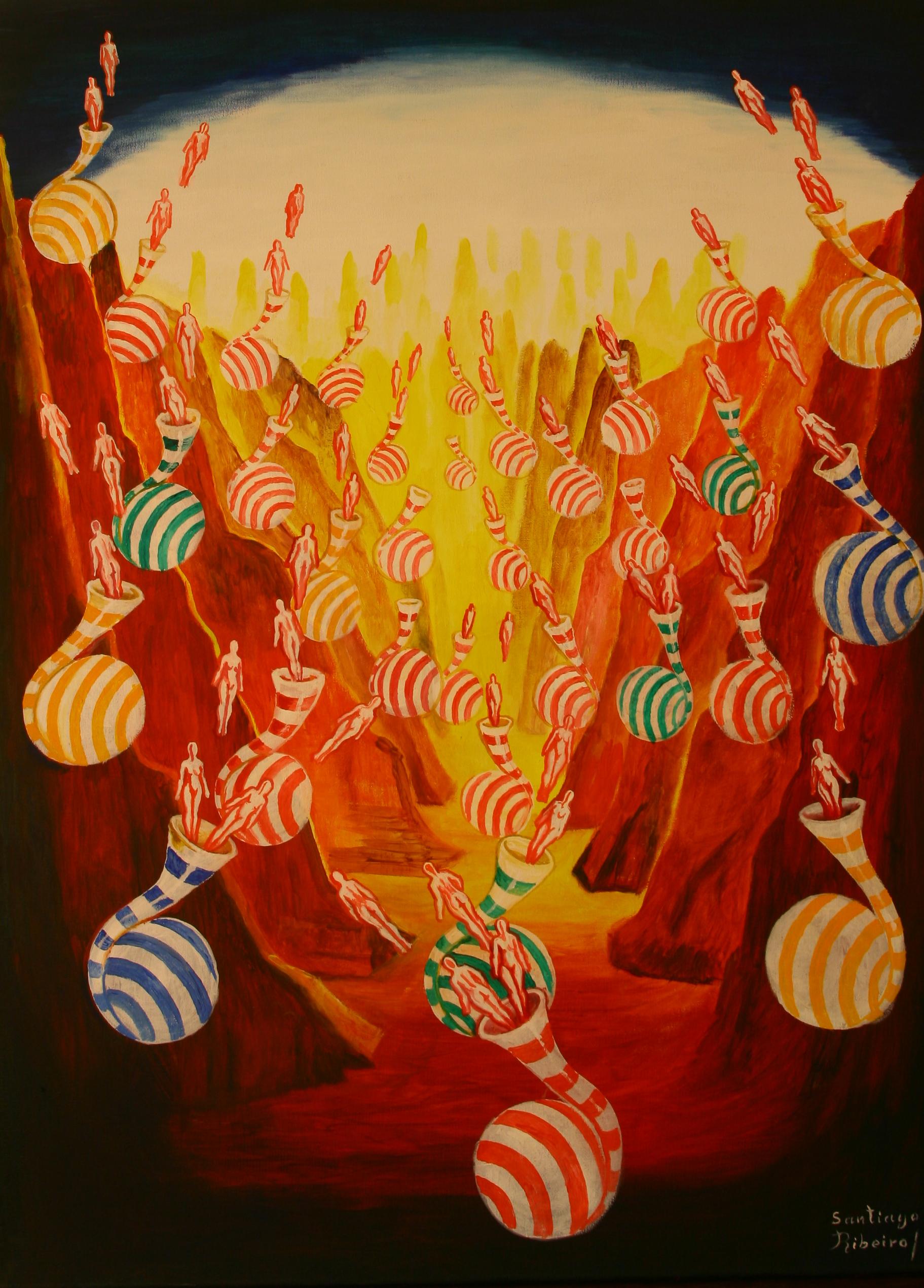Santiago Ribeiro painting Fluídos