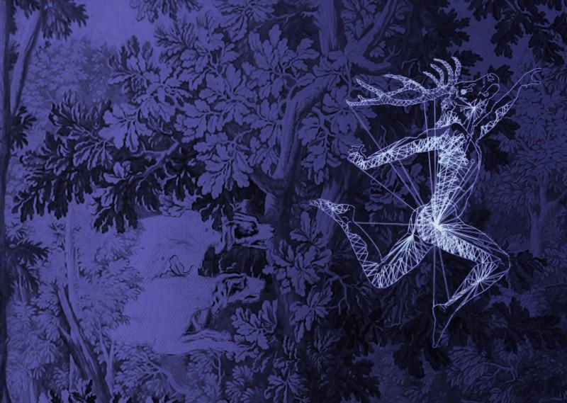 Danseur-étoile_sur_la_tapisserie   des Chasses Nouvelles - Julien Salaud
