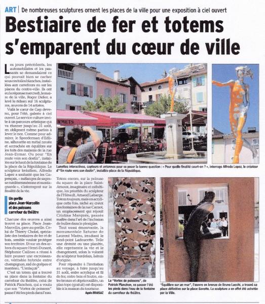 Le Dauphiné Libéré 14 07 2015