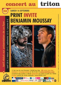 flyer PRINT invite BENJAMIN MOUSSAY
