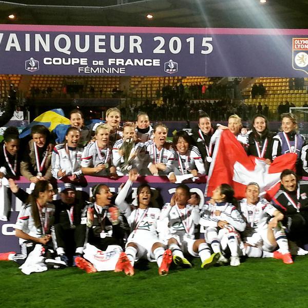 Les lyonnaises gagnent la coupe de france 2015 bel7 infos - Date coupe de france 2015 ...