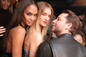 Derek Blasberg, Rosie Huntington-Whiteley, Joan Smalls
