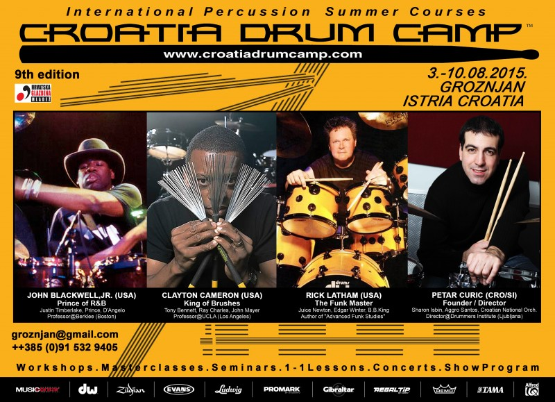 rick latham 3CROATIA DRUM CAMP - Official Poster