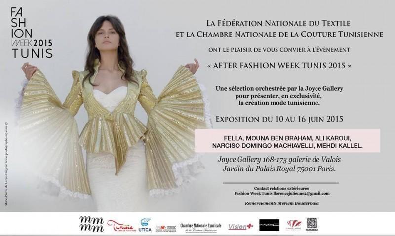 After Fashion Week Tunis Mai 2015 - Affiche W