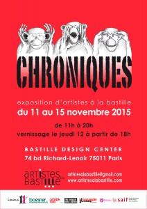 affiche Chroniques - Artistes à la Bastille - bd