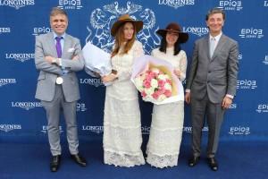 Dimanche 19 Juin 2016;Chantilly;PHOTOCALL;Baron Edouard DE ROTHSCHILD ;Juan Carlos CAPELLI;BRIGITTE;Aurélie SAADA;Sylvie HOARAU;SCOOPDYGA - COSTABADIE Pierre