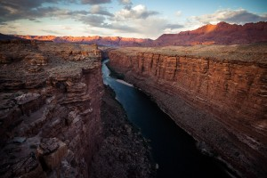 Colorado River at Grand Canyon, Arizona. According to scientists it took the Colorado River about 20 million years to create the Grand Canyon.