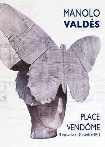Affiche Manolo Valdés place Vendôme