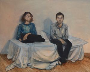 simon-et-christine-2016-162x130-cm-huile-sur-toile