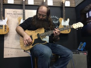 Laith Al-Saadi at the Wallace Detroit Guitars Booth
