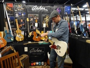 namm Shawn Jones at the Asher Guitars