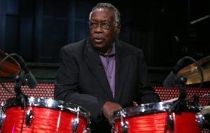 LATE NIGHT WITH JIMMY FALLON -- Episode 418 -- Pictured: Musical Guest Clyde Stubblefield of Copyright Criminals All Star Band performs on March 29, 2011 (Photo by Lloyd Bishop/NBC/NBCU Photo Bank via Getty Images)