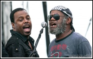 Paul Hall & Robert P-Nut Johnson with George Clinton & the P-Funk All Stars - Parliament Funkadelic on July 4, 2010 at Nateva Festival in Oxford, Maine
