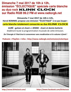 Info émission KLINK CLOCK